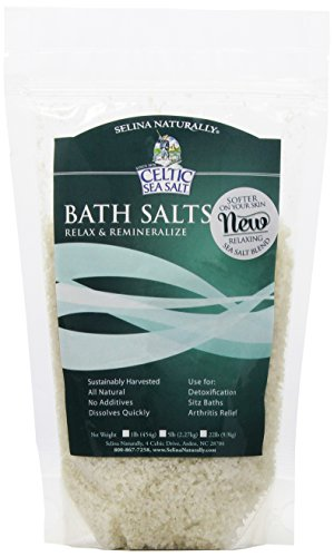 Rare Body Whole Crystal Celtic Sea Salt Bath Salt - Relaxing Salt Bath Soak for Relaxation, Alleviating Disease Symptoms and Aches and Pains, All Natural, Vegan and Gluten Free – 1 Pound