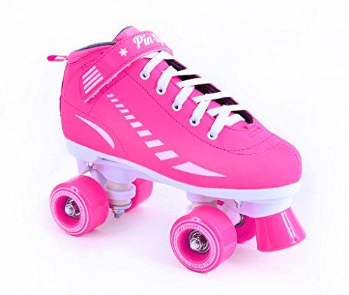 Mädchen/Damen Rollschuhe SMJ Sport PIN-UP neon pink Gr. 35,36,37,38 (36)