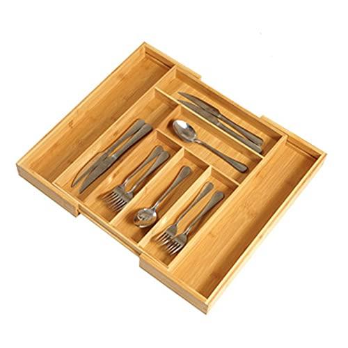 Bandeja de organizador de cajones Organizador de cajones de cocina ampliable - 8 Slots Utensil Soportware Soporte Dibujospedores de cajones bandejas Organizador de cubiertos para cubiertos y utensilio