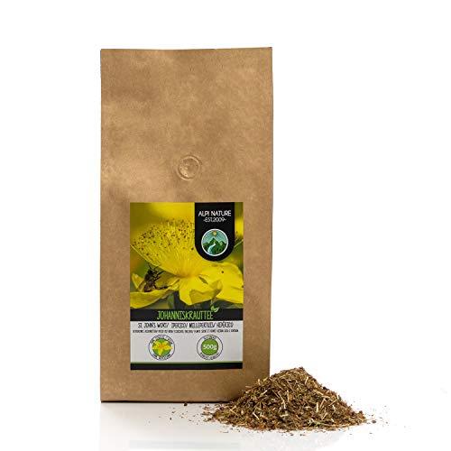 Johanniskraut Tee (500g), Geschnitten, schonend getrocknet, 100% rein und naturbelassen zur...