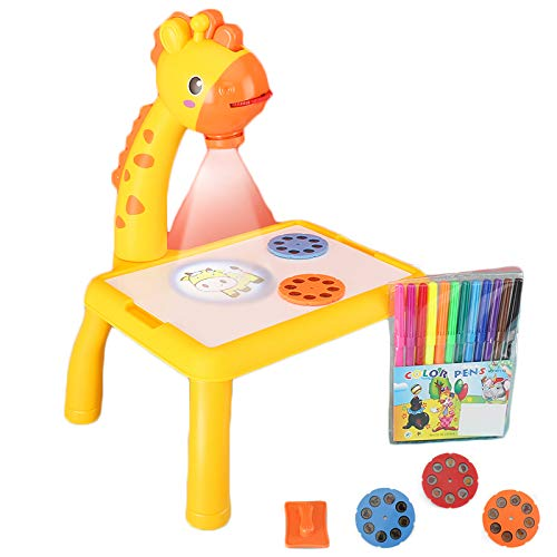 Kids Drawing Projector, Trace and Draw Projector Toy Drawing Board Tracing Desk Learn to Draw Sketch Machine Art Tracing Projector, Educational Drawing Playset for Kids Boys Girls (Giraffe)