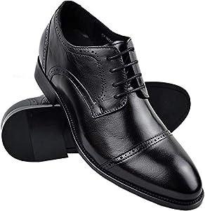 Zerimar Zapatos con Alzas Hombre| Zapatos de Hombre con Alzas Que Aumentan su Altura + 7 cm|Zapatos con Alzas para Hombres | Zapatos Hombre Vestir