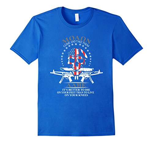 Mens It's Better To Die On Your Feet Than To Live On Your Knees Small Royal Blue