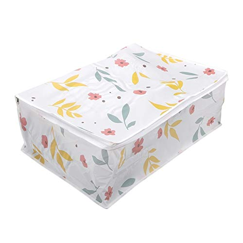 SSLHDDL Packing Bag Closet Organizer Foldable Storage Bags Luggage Organizer Bag For Clothes Quilt Blanket Pillow Damp Proof Square (Color : Floral Large)