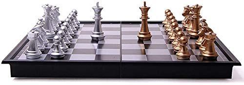 SOAR Schachspiel 32 / 36cm Large Size Medieval Schachbrett Von Schachbrett 32 Schachfigur Tabelle Carrom Brettspiel Atlas,36 * 36 cm (Color : 36 * 36 cm)