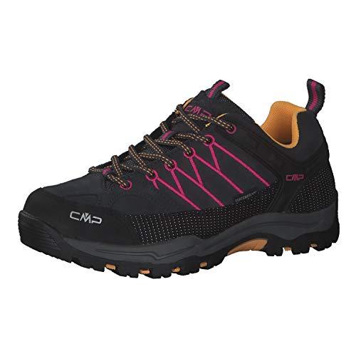 CMP Zapatillas de senderismo unisex para niños Rigel Low Shoes Wp, color Gris, talla 40 EU