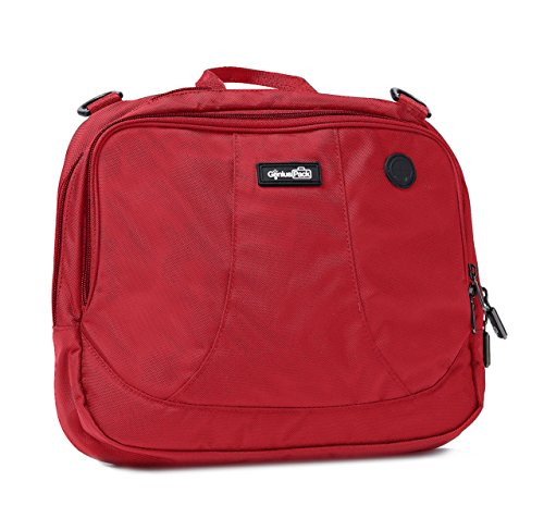 Genius Pack High Altitude Flight Bag -Patented Design Wraps Around Airplane Seat-Back Tray
