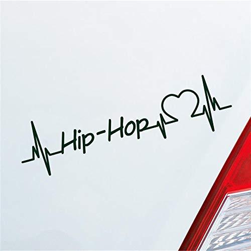 Hellweg Druckerei Auto Aufkleber Hip-Hop Herzschlag Tanzen Musik Rhythmus Sport Sticker Liebe Dunkelgrün