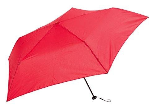 ビコーズ 軽量折傘 50cm スーパーライト プレーンカラー ミニ BE-02810 レッド
