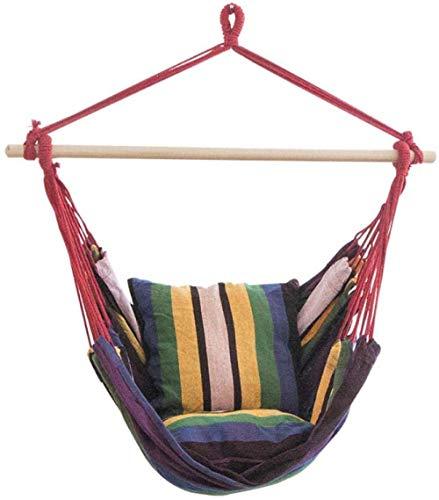 DX Hamaca Swing Silla Hamaca Silla al aire libre interior del hogar adultos niños s colgantes silla dormitorio hamaca -E
