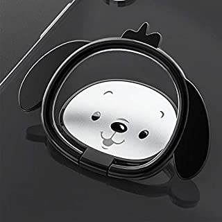 Nuokix Cartoon DOG Magnetic Finger Ring GPS Navigation Stand Car Cute Mobile Phone Bracket Desktop Holder for for IPhone f...