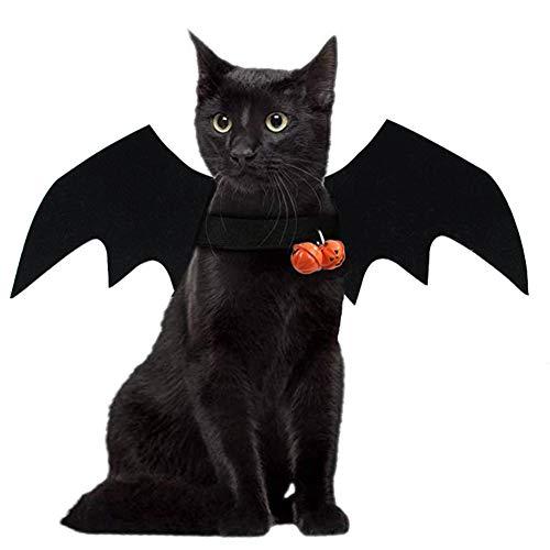 Smoro Disfraz de Mascota de Halloween alas de murciélago Cosplay Disfraz de Perro Disfraz de Gato para Fiesta