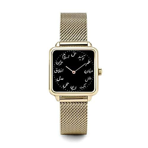 Relojes Para Mujer Reloj de cuarzo de las señoras de la moda simple Relojes de mujer elegante de oro rosa relojes de muñeca de acero inoxidable relojes de pulsera para mujeres Relojes Decorativos Casu