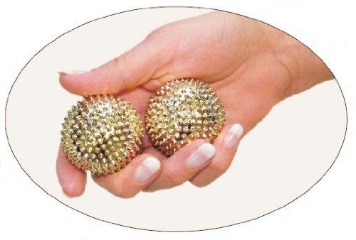 Magnet Akupressur Massagekugeln - 2 Stück gold, klein