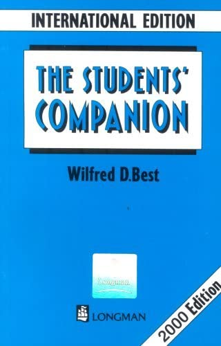 Students Companion International Edition New Edition by Wilfred D Best 2012 09 07 product image