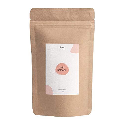 slean skin balance Spearmint Tee - 60 Tassen regulierender Nanaminze Tee für Hormonhaushalt & Haut von Frauen - 120g vegan