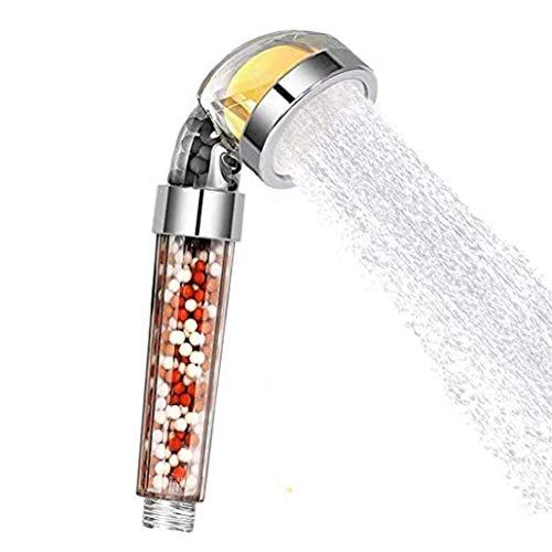 Ducha ducha de chorro ajustable, cabezal de ducha de filtro de aniones de baño de agua de ahorro de alta presión