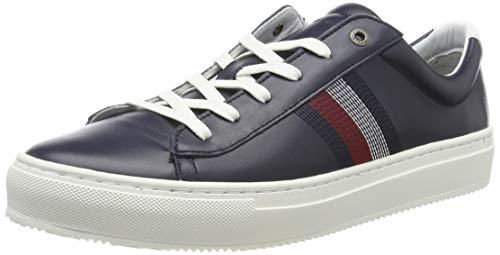 Tommy Hilfiger Herren CLEAN Premium Corporate Cupsole Sneaker, Blau (Midnight 403), 44 EU