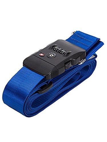 スーツケース ベルト tsaロック 3桁ダイヤル式 8カラー 十字型 スーツケースベルト ロック搭載ベルト ベルト TSA クロス 鍵付き アメリカ 旅行 海外 出張 調整可能 ネームタグ 盗難防止 Love Berry ラブベリー (フリーサイズ, ブル