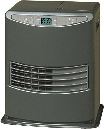 Toyoset Lc-3010 Elektronik-Heizung, tragbar, 3000 W, Grau, 19m2-48m2, ohne Installation, Tagesregler, Energieeffizienzklasse A