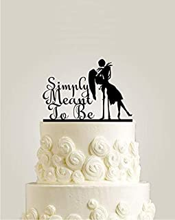 Simply Meant To Be - Nightmare Before Christmas, Jack Skellington Cake Topper, Jack and Sally Halloween Wedding Cake Topper