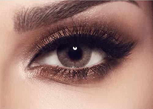 """natürliche stark deckende farbige Kontaktlinsen graue Farblinsen """"Sandy Gray"""" von BELLA Markenlinsen hochwertige Qualität - inklusive deutscher Anleitung - ohne Dioptrien Stärke - 1 Paar (2 Stück)"""