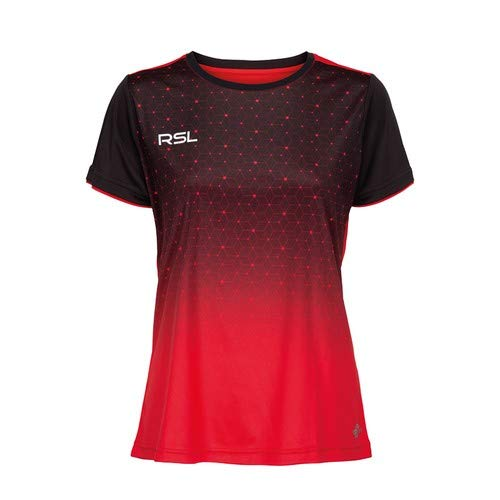 RSL Female Cassini T-Shirt rot - rot/schwarz, L