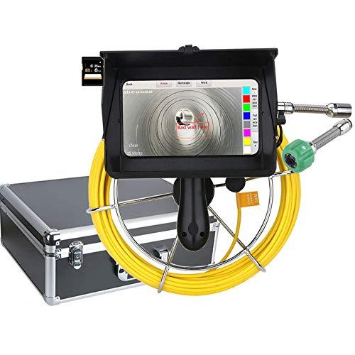 AWCPP Rohrkamera 40M Handheld Wifi Industrielle Rohrkanalinspektion Videokamera mit Zähler/DVR-Videoaufzeichnung/Fotobearbeitung/HD 1080P-Kamera / 7-Zoll-Touchscreen / 6W-LED-Leuchten