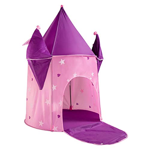 """Alvantor Kids Princess Crystal Castle, Pop Play Tents Indoor Outdoor Great Game and Toy Gift for Children Fun, 35""""x35""""x51"""""""