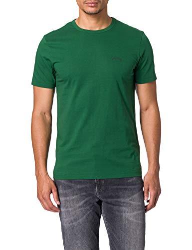 BOSS tee Curved 10213473 01 Camiseta, Dark Green308, S para Hombre