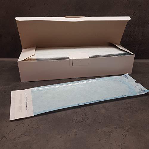200x Sterilisationsbeutel mit SK-Verschluß Sterilisier-Beutel Steribeutel für Autoklaven verschiedene Größen (90x250mm)