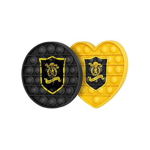 FOCO Livingston FC Football EPL League One Championship 2 Pack Circle & Heart Push-Itz FidgetPush Pop Bubble Sensor Toy Craze