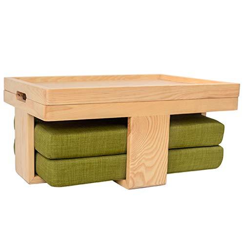 Mesa Baja Mesa de Centro Interior Simple Mesa compacta de Estilo japonés con cojín Mesa Baja con Caja de Almacenamiento Fácil de Usar