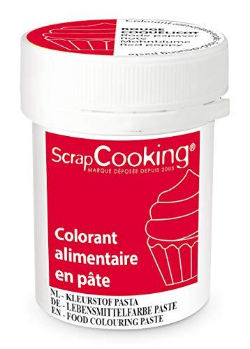 Scrapcooking Colorant en Pâte Rouge Coquelicot 20 g
