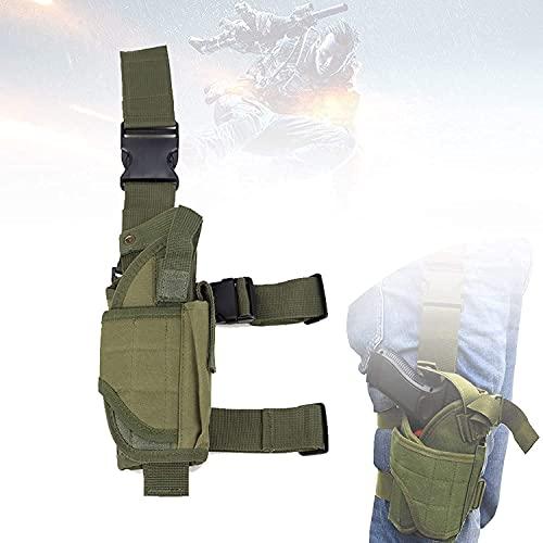 AACXRCR Funda táctica de la pierna, bolsa de caza con un paño de oxford ajustable, de alta densidad, impermeable y resistente al desgaste, una funda de pistola táctica universal para la caza, los depo