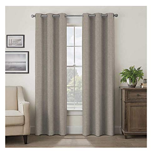 """Eclipse 52"""" x 84"""" Absolute Zero Curtains, 2-Pack (Max Taupe)"""