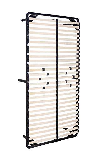 iFlair Somier Negro multiláminas con reguladores lumbares (con Patas incluídas) Metalizado anticorrosion Varias Medidas (80x200cm)