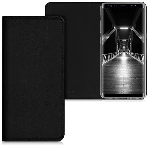 kwmobile Hülle kompatibel mit Samsung Galaxy Note 8 DUOS - Kunstleder Handy Schutzhülle - Flip Cover Hülle Schwarz