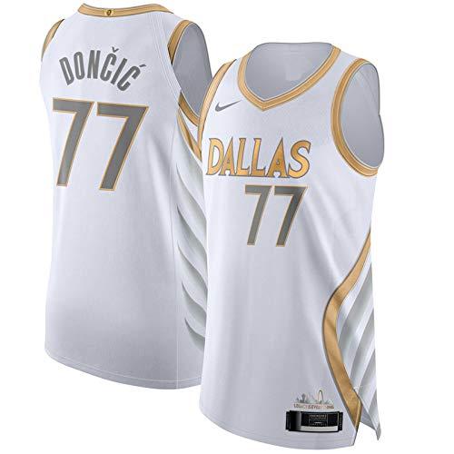 Luka Camiseta de baloncesto Doncic Dallas temporada 2020/21 Mavericks Jugador Blanco Jersey #77 City Edition Sport Vest Top sin mangas