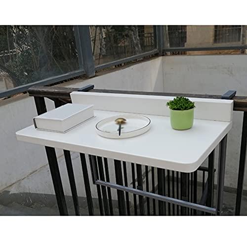 VOCD Mesa colgante para balcón, plegable, altura regulable, 80 x 40 cm/120...