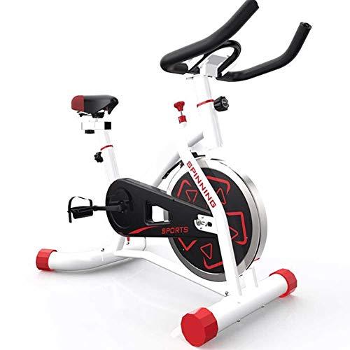 Bicicleta de ejercicios - Bicicleta de ciclismo interior tranquila - Bicicleta de ciclo estacionario con tableta y cómodo Cojín de asiento - Máquina de gimnasia para entrenamiento en casa.,Blanco