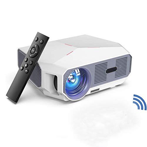 HD-Projector, 1280 * 720P Eigen Resolutie Ondersteunde 1080P Video Projector Met Afstandsbediening, Home Theatre-Systeem Media Player, LED Micro Movie Projector,White