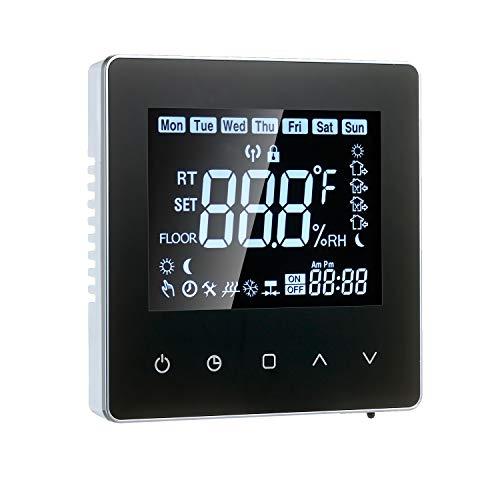 VISLONE Wi-Fi Smart Thermostat LCD Programmierbarer Touchscreen-Thermostat mit WIFI-Gaskesselheizung 3A Digitaler Temperaturregler für das Home School Office Hotel