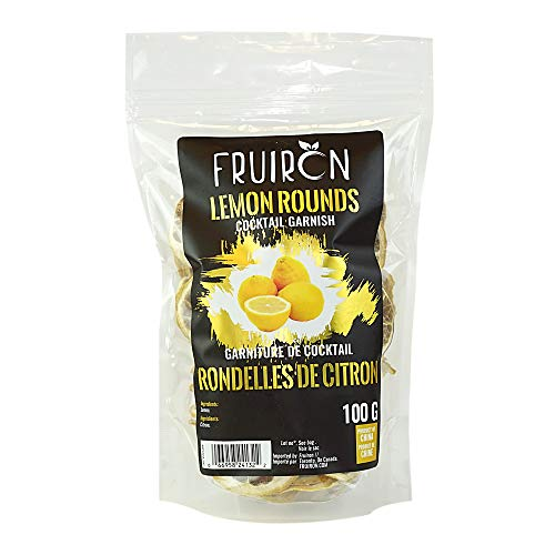 Fruiron Freeze Dried Lemon Rounds - 100g (3.5oz) | Cocktail Garnish For The Master Mixologist, Free Cocktail Recipe E-Book