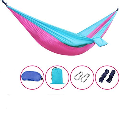 None branded SWIIM Garden Outdoor Hammock Single Parachute Cloth Wild Swing Size 210X80cm Load 200Kg