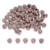 100pcs Vintage Wax Seal Stamp Tablet Pill Beads para sobre Sello de cera de boda Cera de sellado antigua con sello Invitación de boda-Bronce, Estados Unidos