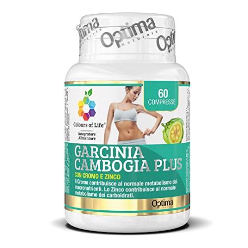 Colours of Life Garcinia Cambogia Plus - Integratore di Garcinia Cambogia - Controlla il Senso di Fame e Mantiene il Peso Corporeo - Senza Glutine e Vegano, 60 Compresse
