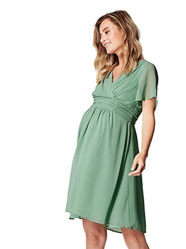 Noppies Dress Woven Liane Hochzeitskleid Brautkleid Damen Umstandsmode Cocktailkleid festliches Kleid (36, Green (P424))