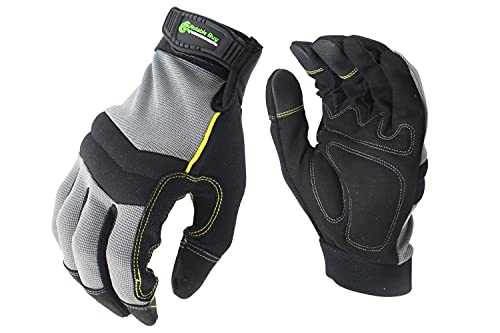 Notable Buy Notable Work Gloves, for Men Women, Mechanics Handyman, Hand Safety, with Padded Palm & Knuckles, Touch Screen, Synthetic Leather (Large)