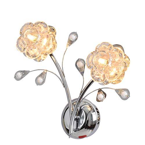 Cuican LED-wandlamp, modern, minimalistisch, ter decoratie van bloemen, G4, warm licht, nachtkastje, wandlamp, woonkamer